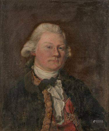 Ecole FRANCAISE vers 1760, entourage de Jean Baptiste PERRONEAU  - Portrait d'homme [...]