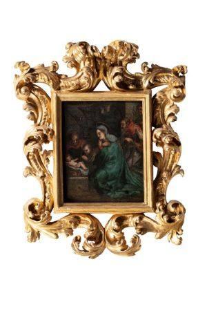 Ecole ITALIENNE de la fin du XVIème siècle, suiveur du Corrège  - Adoration de [...]