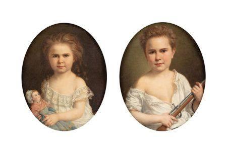 Ferdinand BIROTHEAU (1819-?)  - Une paire : un enfant au fusil, et un enfant à la [...]
