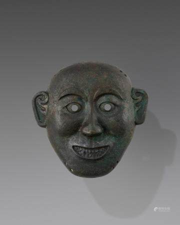 A BRONZE DEATH MASK, SONG TO MING DYNASTY