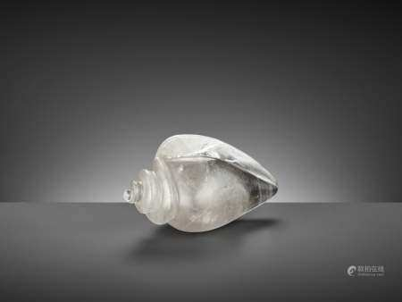 A ROCK CRYSTAL CONCH SHELL, 17TH-18TH CENTURY