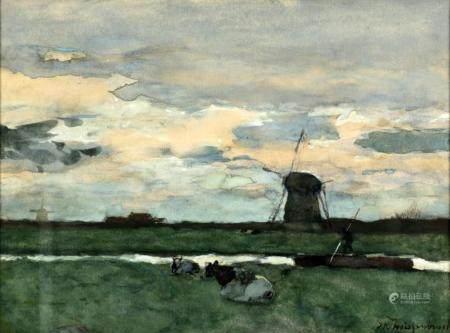 Jan Hendrik Weissenbruch, The Hague 1824-1903 The Hague, Pol ...