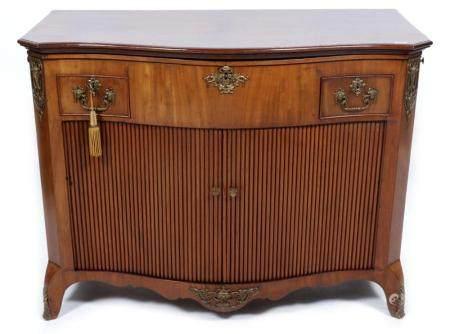 Antique mahogany Louis Seize foldable buffet with original p ...