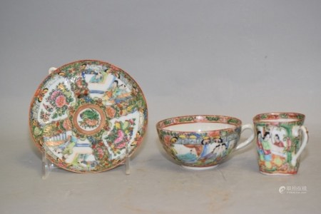 Three 19th C. Chinese Porcelain Famille Rose Medallion Wares