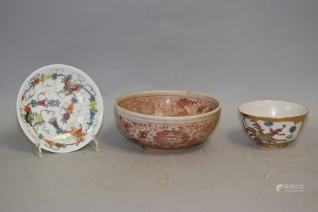 Group of 19-20th C. Chinese Porcelain Famille Rose Wares