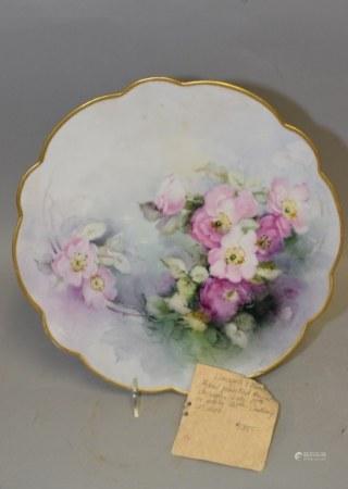 Limoges France Porcelain Handpainted Plate
