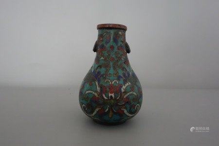 A bronze clossione vase