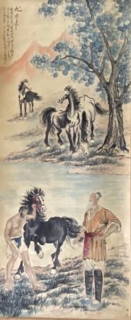 A Chinese horse painting
