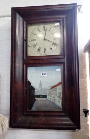 AN AMERICAN 'O G' WALL CLOCK, BY JEROME