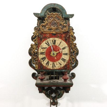 A Dutch Wall Clock