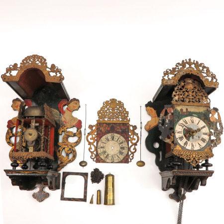 A Lot of 2 Dutch Wall Clocks