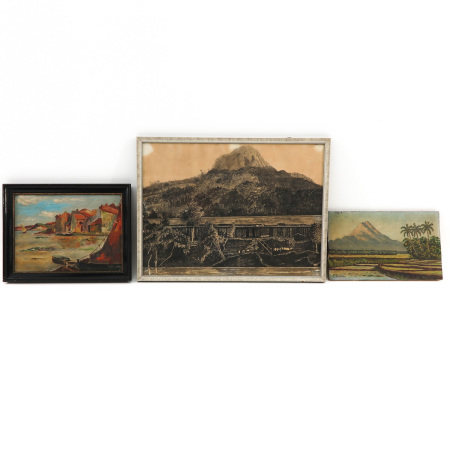 A Lot of 3 Indonesian Works of Art