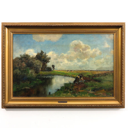 A Signed Oil on Canvas