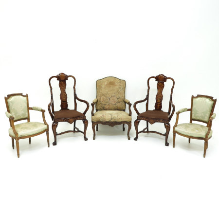 A Lot of 5 Armchairs