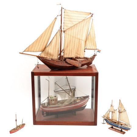 A Lot of 4 Wood Ship Models