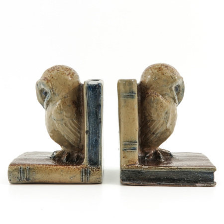 A Pair of Figural Bookends