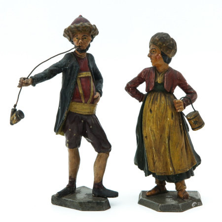 A Pair of 19th Century Wood Sculptures