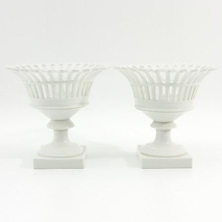 A Pair of Porcelain Fruit Baskets