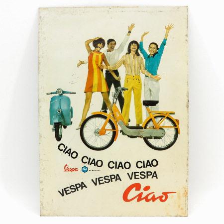 A Enamel Vespa Sign