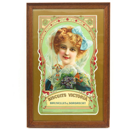 A Framed Victoria Biscuits Advertisement