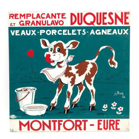 A Montfort - Eure Enamel Sign