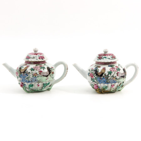 A Pair of Yongzheng Teapots