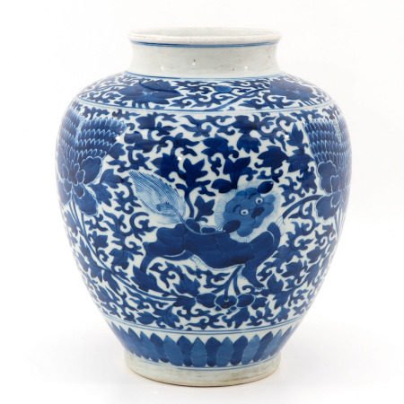 A Blue and White Chinese Jar