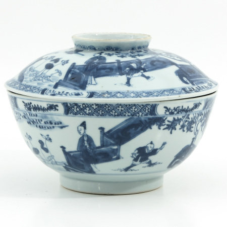 A Blue and White Bowl with Cover
