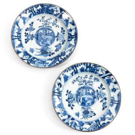 A Pair of Kangxi Period Plates