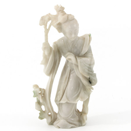 A Carved Jadeite Sculpture