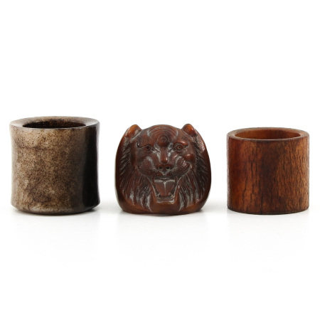 A Collection of 3 Carved Rings