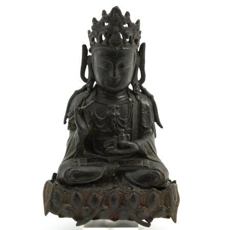 A Bronze Bodhisattva Ming Scultpure