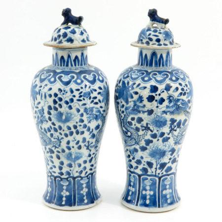 A Pair of Garniture Vases