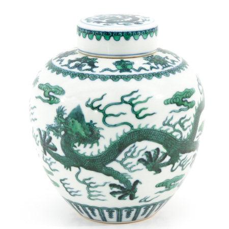 A Dragon Decor Ginger Jar