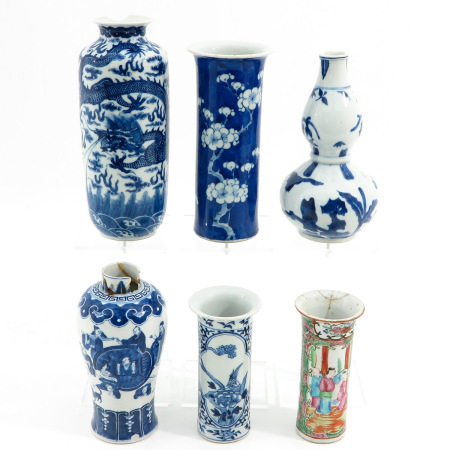 A Collection of 6 Vases