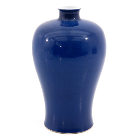 A Blue Glaze Meiping Vase