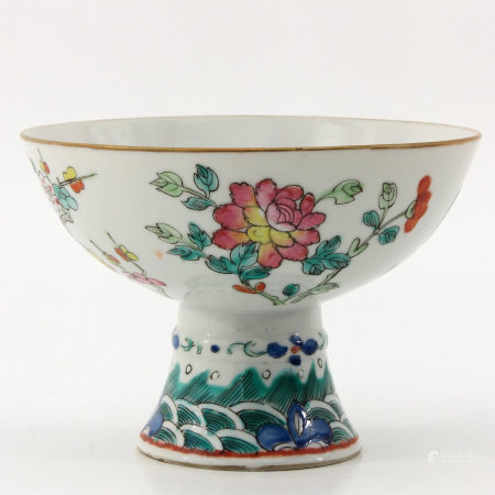A Famille Rose Stem Cup
