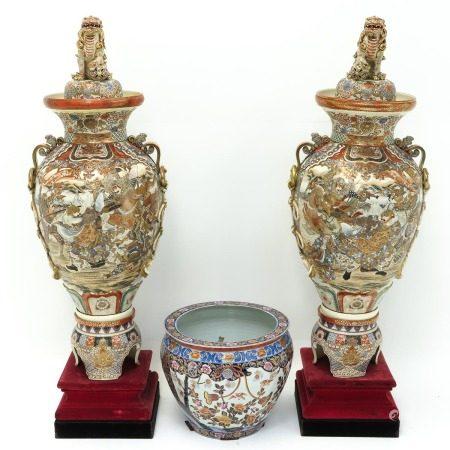 A Collection of Satsuma Porcelain