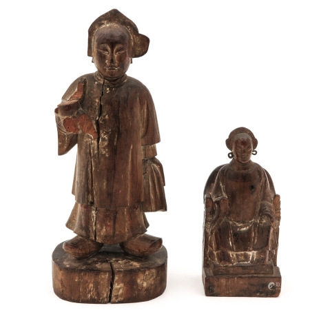 Two Wooden Sculptures