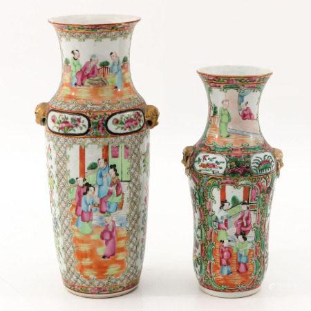 Two Cantonese Vases