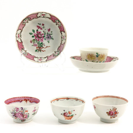 A Collection of 4 cups and 2 Saucers