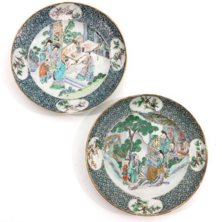 A Pair of Cantonese Plates