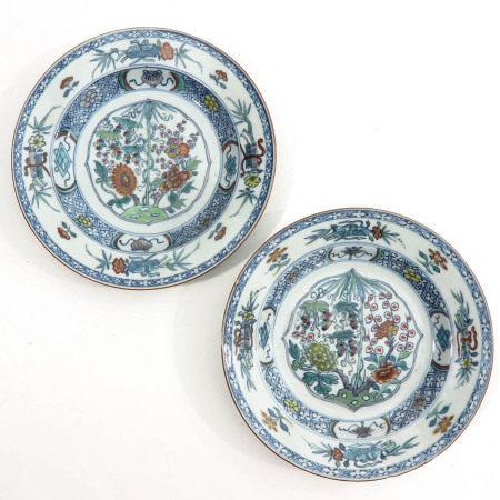 A Pair of Ducai Decor Plates