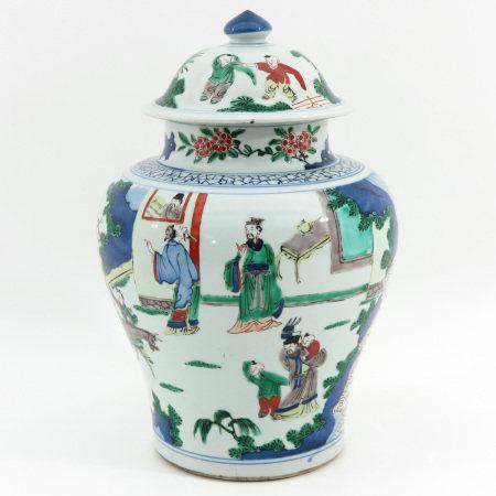 A Doucai Decor Jar and Cover