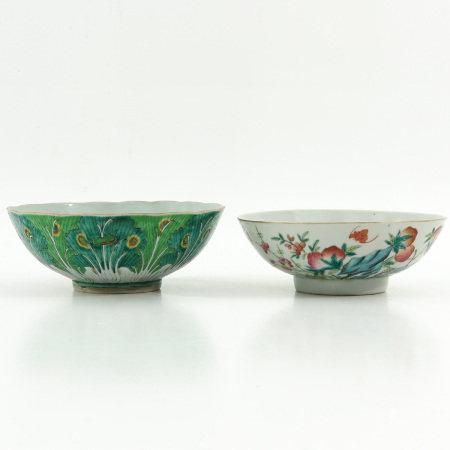 Two Polychrome Decor Bowls