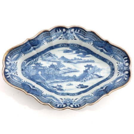 A Blue and White Serving Dish