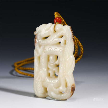 A CHINESE JADE CARVING PENDANT