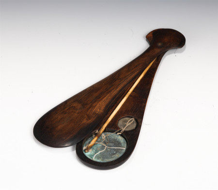 A CHINESE HARDWOOD MATCHING BOX FOR LEVER SCALE