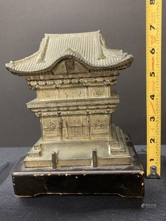 Japanese temple cigarette box