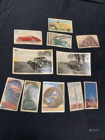 Lot of 11 Cigarette cards and photographs